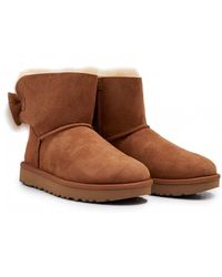 UGG - Fluff Bow Mini Shearling Boots - Lyst