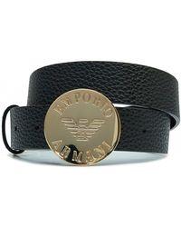 Emporio Armani - Eagle Logo Belt - Lyst