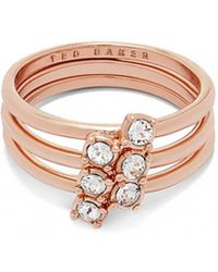 Ted Baker - Elwyn Princess Sparkle Stack Ring - Lyst