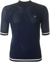 Fred Perry - Bold Tipped Crew Neck Jumper - Lyst