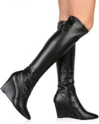 Public Desire - Katia Long Boots In Black - Lyst