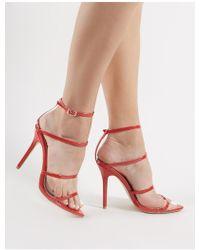 d2eec4221a29 Public Desire Charmer Strappy Heels In White in White - Lyst