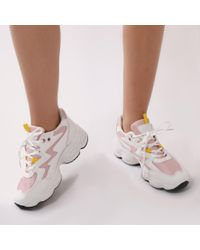 Public Desire - Surge Chunky Trainers In Baby Pink - Lyst