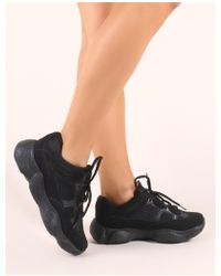 Public Desire - Kaidee Chunky Trainers In Black - Lyst