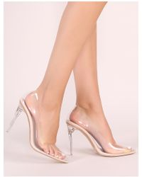 59ed59e1822 Public Desire - Drank Perspex Court Heels In Nude - Lyst