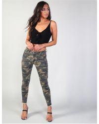 Public Desire Camo Zip Hem Skinny Jeans