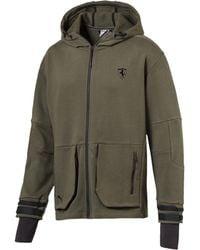 a24a60fd8696 PUMA - Scuderia Ferrari Life Men s Midlayer Full Zip Hooded Jacket - Lyst