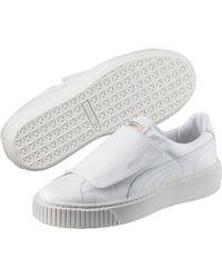 f837cb6df718 PUMA - Basket Platform Big Strap Women s Sneakers - Lyst