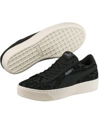 003a0c06ed1 Lyst - PUMA Women s Basket Platform Velvet Rope Casual Sneakers From ...