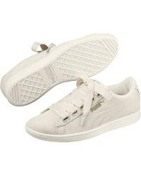 3e89e09b210 Lyst - Puma Lace-up Ribbon Sneakers in White
