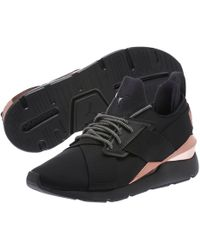 dc68c77bdd2f1a Puma Women s Basket Patent Leather Lace Up Sneakers in Black
