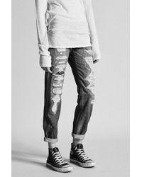 R13 | Relaxed Skinny Shredded Selvedge | Lyst