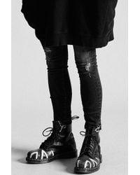R13 - Alison Skinny Strummer Black - Lyst