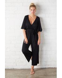 Rachel Pally Crop Meridith Jumpsuit - Black