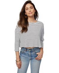 Rachel Pally - Rib Tana Top - Black / White Stripe - Lyst