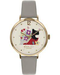 Radley - Basket Bouquet Ash Grey Leather Watch - Lyst
