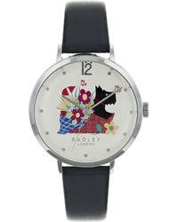 Radley - Basket Bouquet Ink Blue Leather Watch - Lyst
