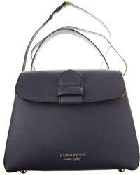 Burberry - Top Handle Handbag On Sale - Lyst