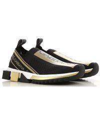 Dolce & Gabbana - Sorrento Metallic-trimmed Stretch-mesh Slip-on Trainers - Lyst