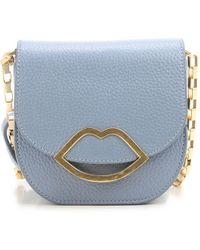 Lulu Guinness Nicola Medium Shoulder Bag in Black - Lyst c57309c2f50af