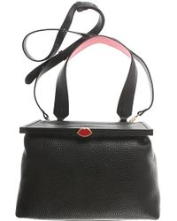 Lyst - Lulu Guinness Women s Mini Daphne Textured Leather Square ... e042535a80