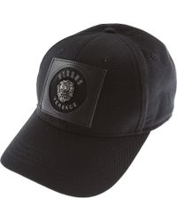 eb04cb78c59 Black Logo Embroidered Cotton Cap. £246. Farfetch · Versace - Clothing For  Men - Lyst