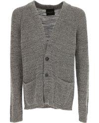 Sweater for Men Jumper On Sale, Navy Blue, linen, 2017, M Roberto Collina