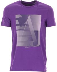 Emporio Armani - T-shirt For Men On Sale In Outlet - Lyst