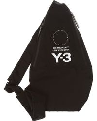 a6f008bac9 Yohji Yamamoto Linen Logo Backpack in Black for Men - Lyst