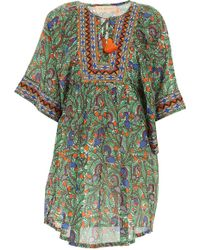 7552c0e89b Tory Burch Seahorse Print Beach Cover Up Tunic Dress in Blue - Lyst