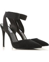 948b0129f84 Steve Madden - Black Suede  dion  High Stiletto Heel Court Shoes - Lyst