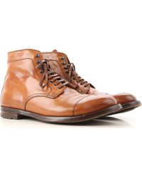 70308beebea14 Lyst - Officine Creative Marais Lace-up Boots in Brown for Men