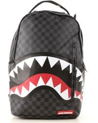 "Sprayground - Zaino ""black Checkered Shark In Paris"" - Lyst"