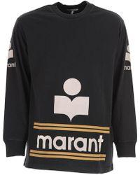 Isabel Marant - Gianni Logo-print Cotton Top - Lyst