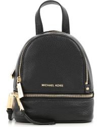 Michael Kors - Rhea Zip Xs Messenger Backpack Black - Lyst
