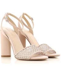 711cf905048 Lyst - Carvela Kurt Geiger Genna Platform Heeled Sandals in Metallic