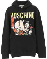 Moschino Sweatshirt für Damen - Schwarz