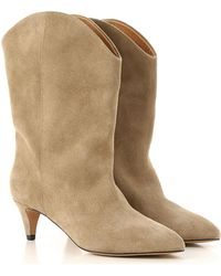 66de4958526 Lyst - Isabel Marant Etoile 'rawson' Boots in Natural