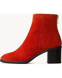 Rag & Bone - Willow Studded Suede Ankle Boots - Lyst