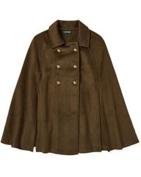 Ralph Lauren - Pleated Military Cape - Lyst