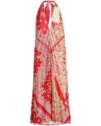 Lauren by Ralph Lauren - Bandana-print Halter Dress - Lyst