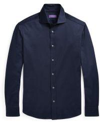 Ralph Lauren Purple Label - Knit Shirt - Lyst