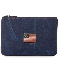 Polo Ralph Lauren - Flag Canvas Small Pouch - Lyst