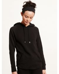 Pink Pony - Quilted Stretch Cotton Hoodie - Lyst