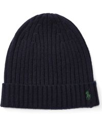 Polo Ralph Lauren | Ribbed Cashmere-wool Hat | Lyst