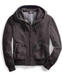 RRL - Cotton-blend-fleece Hoodie - Lyst