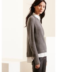 Pink Pony - Layered Wool-cashmere Sweater - Lyst