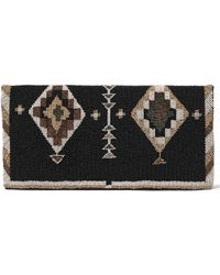 Pink Pony - Beaded Nappa Fold-over Clutch - Lyst