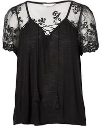 Denim & Supply Ralph Lauren - Lace-up Jersey Top - Lyst
