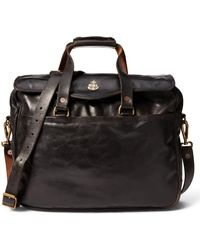 RRL - Tumbled Leather Briefcase - Lyst